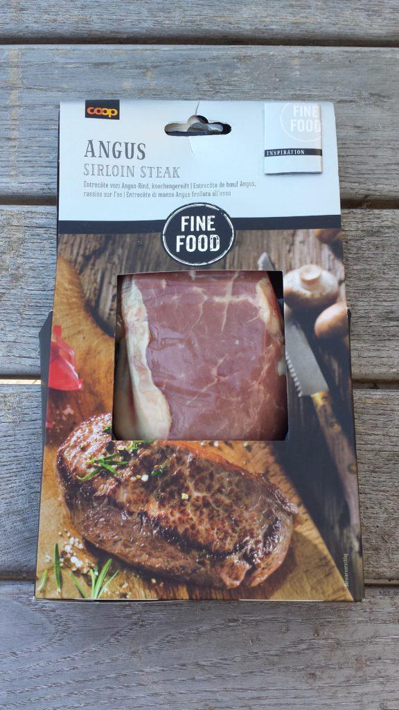 Grillieren Grillen Fleisch Test BBQ Fleisch Coop Fine Food Angus Sirloin Steak
